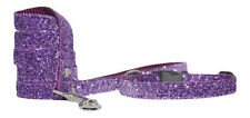 """ purple sparkle "" small medium dog puppy collar and lead *10""-15"" 5/8* wide"