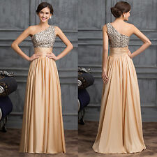 Long Sequined Pageant Prom Dresses Evening Formal Jessica One Shoulder Ball Gown