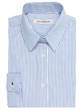Leanne Shirt Wedgewood Blue & White with Classic Bengal Stripe