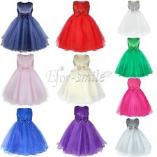 Princess Flower Girls Communion Pageant Birthday Wedding Braidsmaid Party  Dress