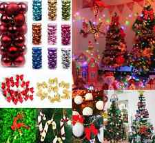 Christmas Baubles Snowball Ball bow deer Xmas Tree Hanging Decor Party Ornaments