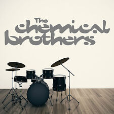 THE CHEMICAL BROTHERS TOM ROWLAND ED SIM BAND LOGO  vinyl wall art sticker decal