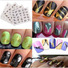 3D Gold Silver Nail Art Tips Stickers Decal Wraps Acrylic Manicure Decorations g