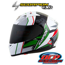 BRAND NEW SCORPION EXO-R710 Crystal Red/Grn  FULL FACE MOTORCYCLE HELMET