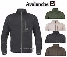 AVALANCHE MEN'S BRIGHTON OUTDOOR-INSPIRED FULL ZIP FLEECE SWEATER JACKET - NEW!!