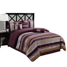 Purple Claudia Bed in a Bag Bedding Set (11-Pieces)