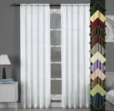 Abri Rod Pocket Crushed Sheer Curtain Panel(Available in several Sizes & Colors)
