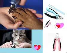 Pet Dog Puppy Cat Claw Nail File Trimmer Pliers Scissors Clippers Safe Tool UK