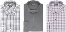 Kenneth Cole Reaction Dress Shirt Mens Slim Fit Long Sleeves Performance Cotton