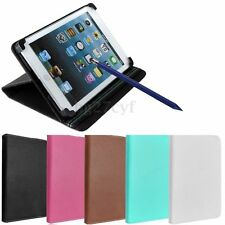 """Universal LeatherCase Cover Stand w/ Stylus Pen For 7"""" Android Tablet E-Reader"""