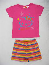 Pyjamas Girls Summer Short (sz 8-14) Pjs Pink Hello Kitty Sz 8 10 12 14