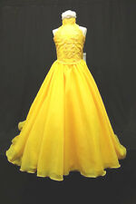NEW BLUE Pink Yellow Lilac Ivory GIRL PAGEANT FORMAL LONG DRESS 5 6 7 8 10 12 14