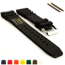 N.D. Limits Mens Silicone Rubber Waterproof Divers Watch Strap Band PRO