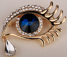 Angel eye & tear brooch pin cute bling jewelry gifts for her ZP06 dropshipping