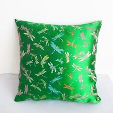 Emerald Dragonfly Chinese Brocade Cushion Cover Made S-XL SIZE  BRCC-307