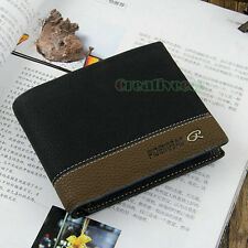 Fashion Men PU Leather Bifold Wallet Pocket Credit/ID Card Clutch Coin Purse New