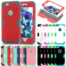 Rugged Hybrid Silicone Shockproof Glossy Matte Case Cover For iPhone 5S SE 6 6S