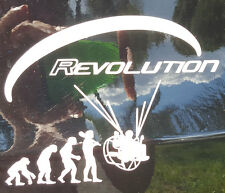 2 X REVOLUTION  PPG FOOT LAUCH  PARAGLIDER VINYL  DECAL STICKER USA  SHIPPING