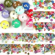 16 style New Mixed Acrylic Beads Assorted Foil DIY Handmade Jewelry Making