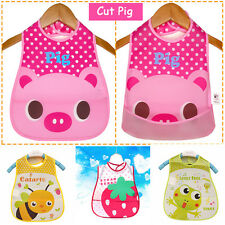 Cartoon Bibs Saliva Towel Burp Cloths Baby Lunch Bibs Waterproof For Boy/Girl