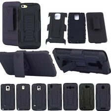 Hybrid Holder Rubber Rugge Armor Belt Holster Hard Clip Case Cover For Cellphone