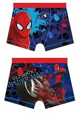 Boys Spiderman Boxer Shorts Boxers 4-5 5-6 7-8 9-10 Years Ultimate Spiderman