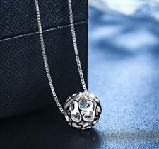 Super Sprakling *Heart Ball* 925 Sterling Silver Pendant Necklace