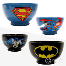 New DC Comics Superman Or Batman Stoneware Ceramic Bowl Dark Knight Official