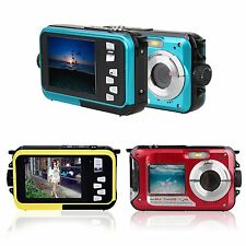 1080P HD 24MP Dual LCD Screen Waterproof Video Camcorder Camera 16x Digital Zoom
