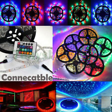 3528 RGB 5M Light Strip 300 SMD Roll Tape Car Outdoor Party LED Waterproof Kit