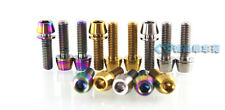 Titanium Ti Bicycle Stem Bolts With Spacer For 3T 6Pcs/lot M5X16mm Screws