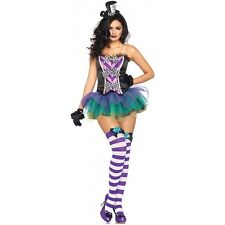 Mad Hatter Costume Adult Sexy Adult Alice in Wonderland Halloween Fancy Dress
