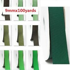 """Wholesale 100 Yards Best YAMA Grosgrain Ribbon 3/8"""" / 9mm  Lime to green"""