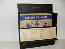 "1930s~ Linguaphone 10"" 78rpm BOX SET - FRENCH LANGUAGE RECORDS Super Condition !"