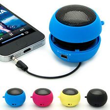 Mini Portable Hamburger 3.5mm Speaker For Phone iPod Laptop Tablet PC MP3 Black