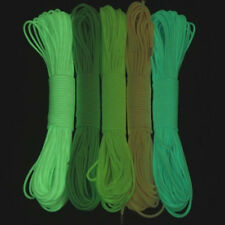 20FT 9 Cord Strand 550Lb Luminous Glow in the Dark Nylon Paracord Parachute Cord