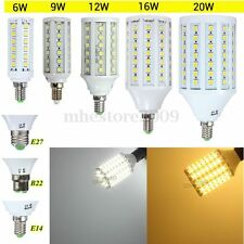 Led Corn Bulb E27/E14/B22 5050 SMD 6W/9W/12W/16W/20W Lamps Lights Bulbs White
