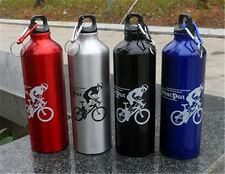 Outdoor Sports Cycling Camping Bicycle Stainless Steel Water Bottle Kettle 750ml
