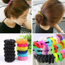 10*Colorful Black Elastic Rubber Hair Tie Band Rope Ponytail Holder for Girl Kid