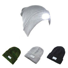 2016 Acrylic 3 Colors Winter Mens 5-LED Headlamp Warm Hat Knitted Beanie Cap New
