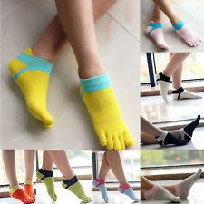 Womens Cotton Toe Socks Pure Sports Five Finger Socks Breathable 1 pairs