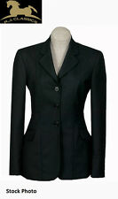 RJ Classics Ladies Prestige English Show/ Hunt Coat, Charcoal/ Prp Pin, D8316