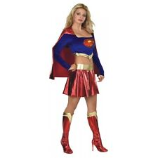 Supergirl Costume Adult Sexy Superwoman Superhero Super Girl Fancy Dress