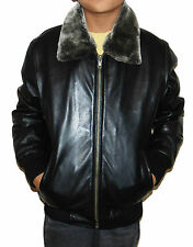 Kids Leather Jacket Boys Childrens 1 to 12 Years Sizes Black Real Leather Coat