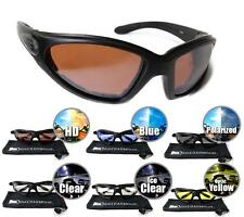 Biker Motorcycle HD Lens Riding SunGlasses Foam Padded Safety Goggles Mens Wind