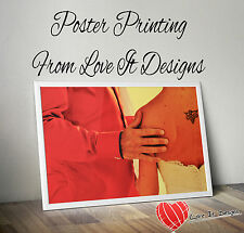 Satin or Gloss Colour Posters printing A0 A1 A2 A3. Printed Poster Service...