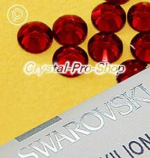 GENUINE Swarovski Indian Siam (327) Hotfix Rhinestone Iron On Round Crystal Gem