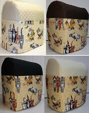 Quilted Beach Cats Cover for Kitchenaid 7qt Lift Bowl Stand Mixer w/6 Pockets
