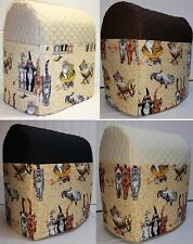 Quilted Beach Cats Kitchenaid 7 & 8qt Lift Bowl Stand Mixer Cover w/Pockets