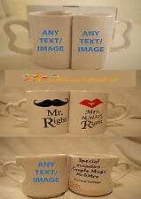 PERSONALISED COUPLE MR MRS MUG WEDDING ANNIVERSARY GIFT SET HIS HERS ANY NAME